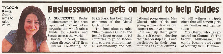 Businesswoman gets on board to help Guides