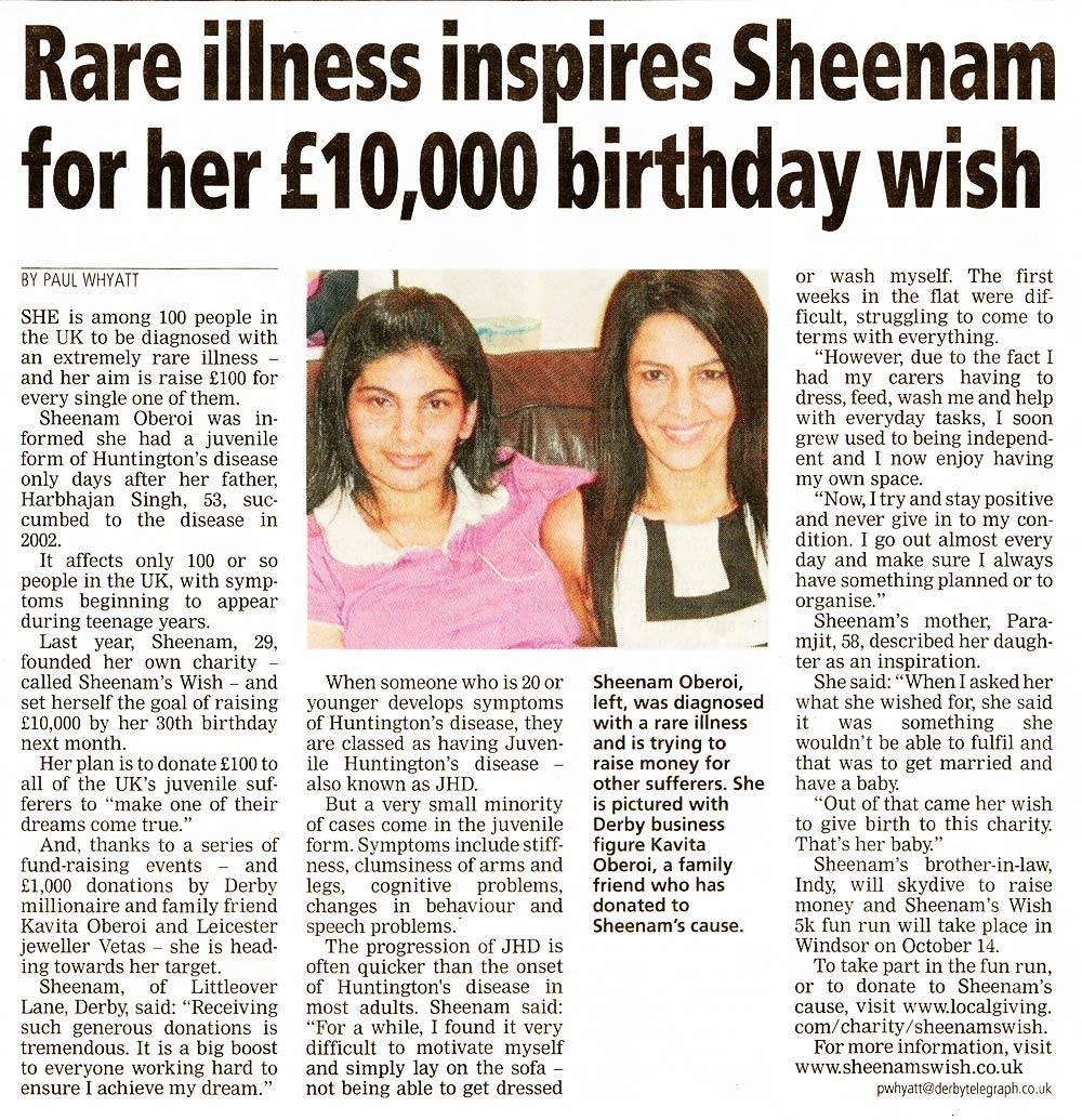 Sheenam's Birthday Wish