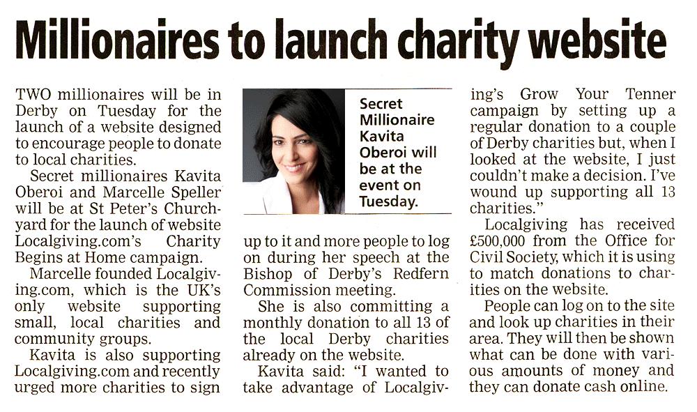 Charity Website Launch