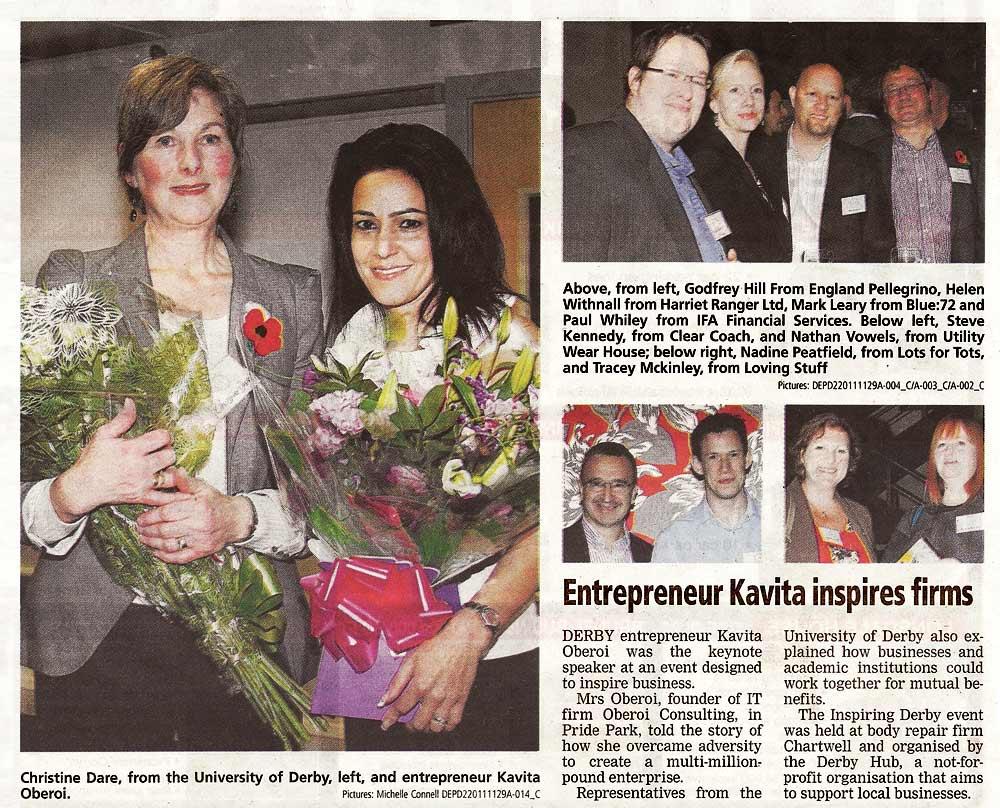 Entrepreneur Kavita Inspires Firms