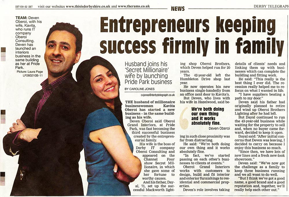 Entrepreneurs keeping success firmly in the family