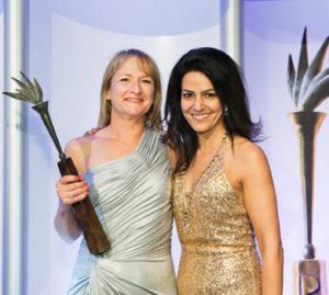 "Kavita with Diane Lawrence, of Boehringer Ingelheim, winner of the PharmaTimes ""Career Pharma Representative Award"" and ""Overall Winner in Primary Care Award 2012"""