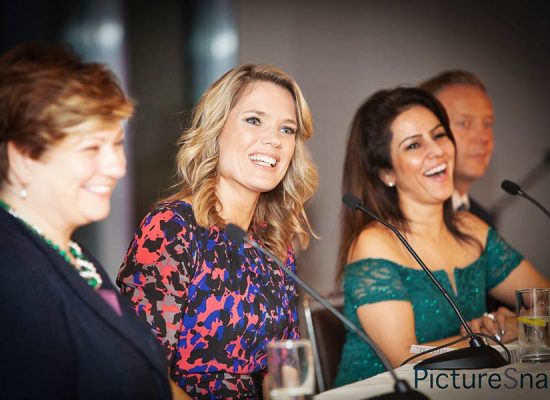 MP Emily Thornberry, Good Morning News Presenter, Charlotte Hawkins and Kavita Oberoi OBE