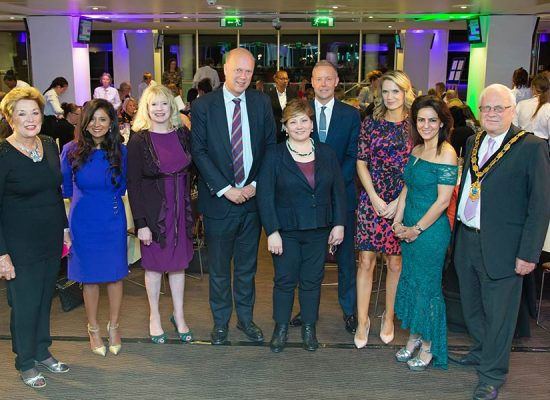 Phillipa Kennedy OBE, Dr Subo Emanuel, Philippa Bilton, MP Chris Grayling, MP Emily Thornberry, Daryl Gayler, Charlotte Hawkings, Kavita Oberoi and Mayor of Epsom & Ewell, Neil Dallen