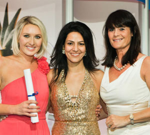 "Kavita with PharmaTimes ""Experienced Pharma Representative of the Year Award 2012"" winners, Alison Birtwistle of Novartis and Katie Turner of Galderma"