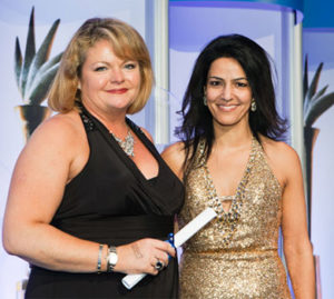 "Kavita with Fiona Taylor, of Novartis Pharmaceuticals, winner of the PharmaTimes ""Company Nominated Representative of the Year Award 2012"""