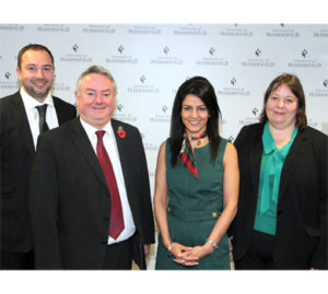 University of Huddersfield - Alan Tobi, Bob Cryan, Kavita Oberoi and Kyla Holt