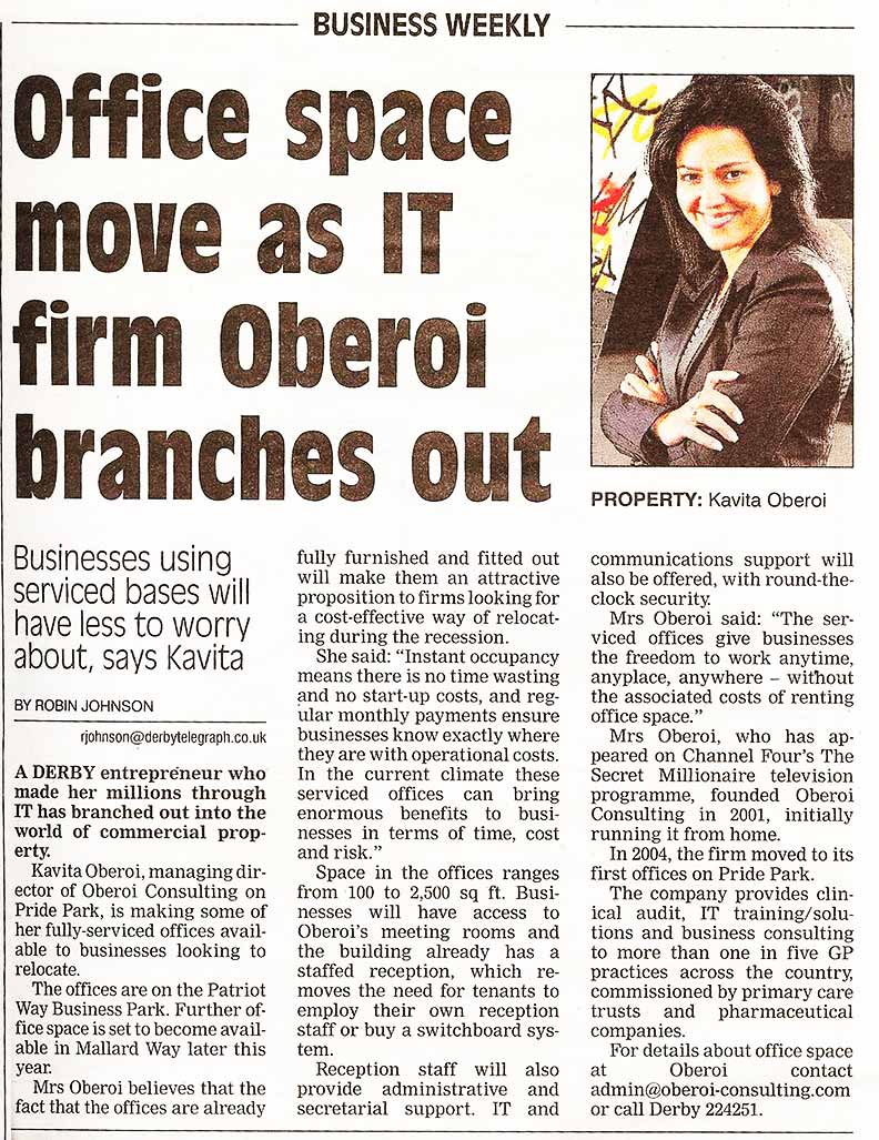 Office Space Move As IT Firm Oberoi Branch Ou