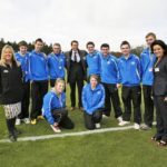 Kavita Oberoi with Dawn Ward OBE, Gareth Southgate and Sports Learners at the Burton and South Derbyshire College ground breaking ceremony at St George