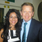 Kavita Oberoi with Bill Turnbull