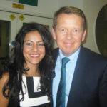 Kavita Oberoi with Bill Turnbull