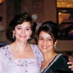 Kavita Oberoi with Cherie Blair