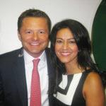 Kavita Oberoi with Chris Hollins
