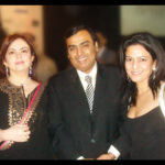 Kavita Oberoi with billionaire Mukesh Ambani and his wife Nita
