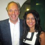 Kavita Oberoi with Simon Woodroffe