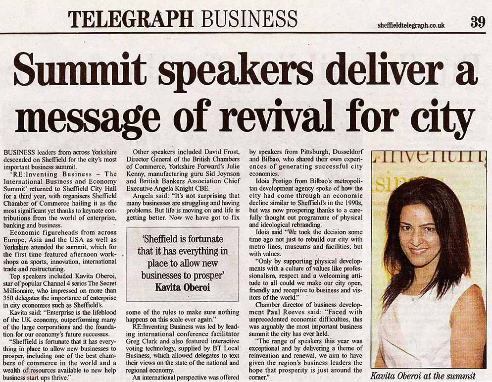 Kavita Delivers a Message of Revival For CityKavita Delivers a Message of Revival For City