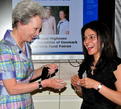Kavita and HRH Princess Benedikte