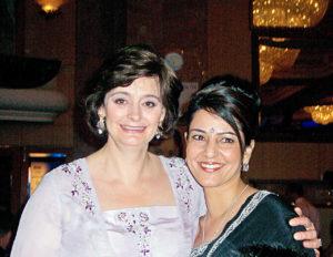 Kavita with Cherie Blair at AWA Awards 2005