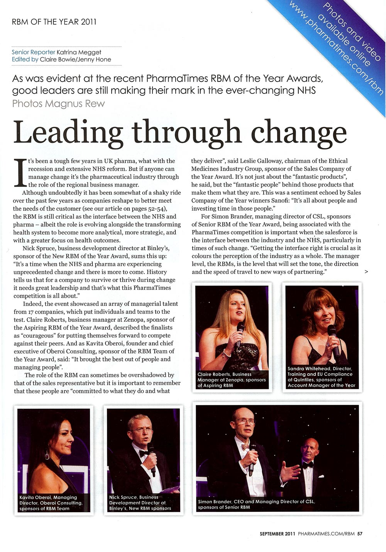 RBM of the Year - Leading Through Change