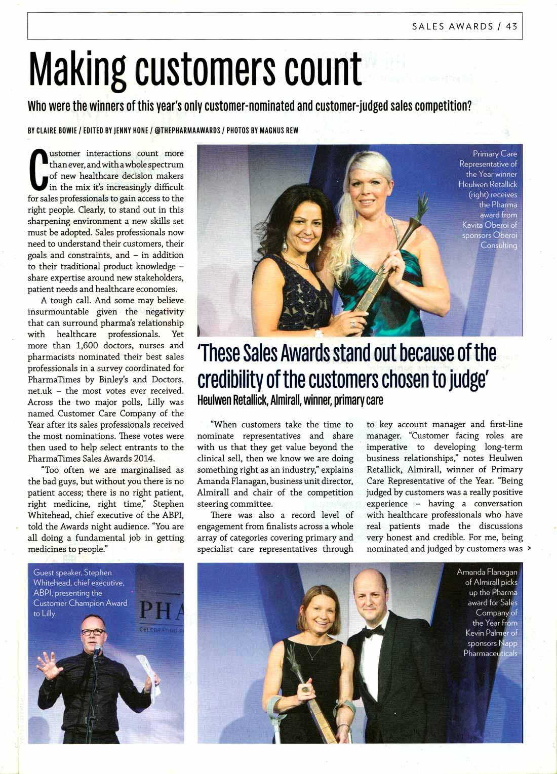 PharmaTimes - Primary Care Award