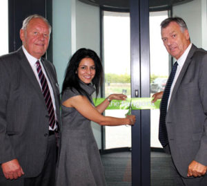 Kavita opening the Tangent Business Hub, in Shirebrook