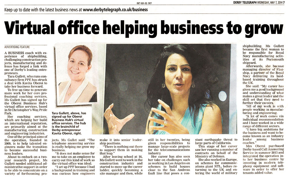 Virtual office helping business to grow