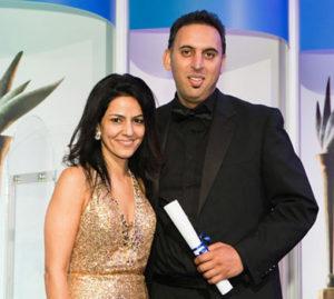 "Kavita with Waheed Khan of Novartis, winner of the PharmaTimes ""Senior Pharma Representative of the Year Award 2012"""