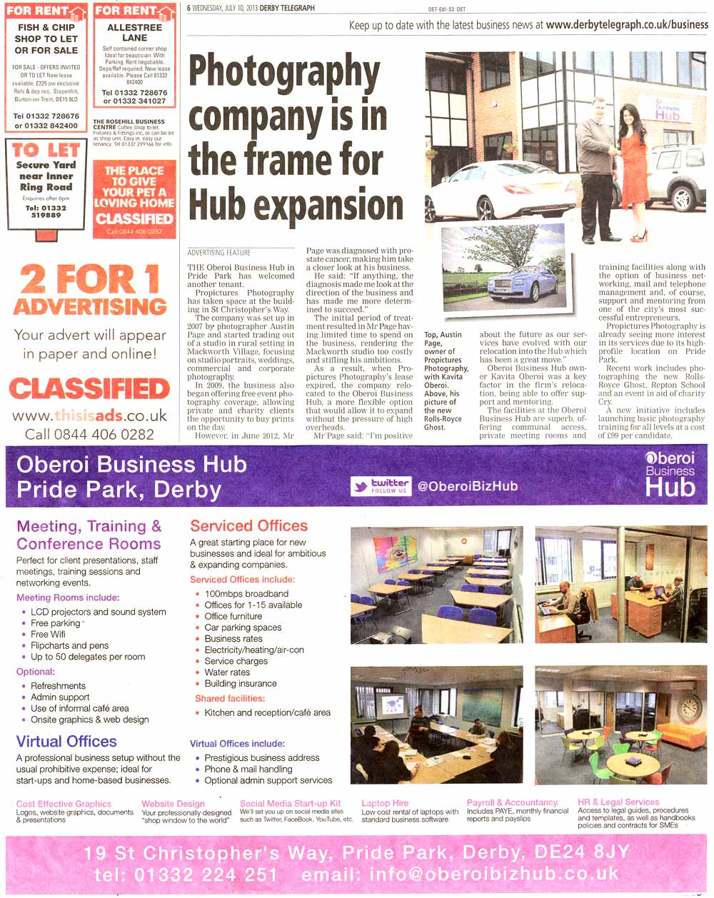 Propictures Photography relocates to the Oberoi Business Hub